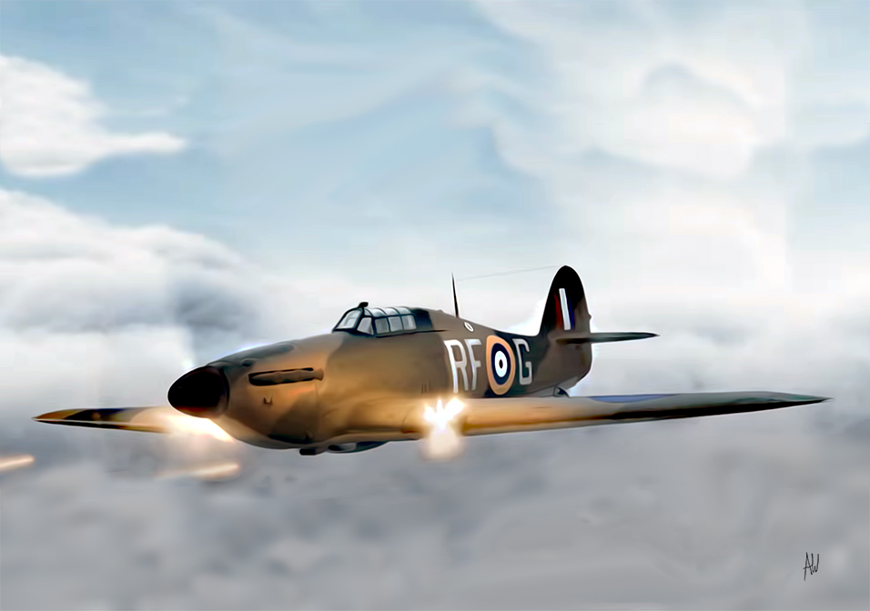 Hawker Hurricane shooting